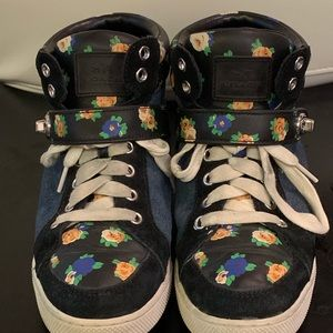 Coach Shoes - Coach Pembroke tea rose black/denim/floral hightop